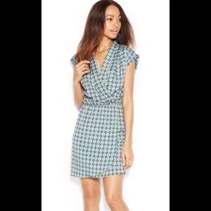 Maison Jules Faux Wrap Print Sleeveless Dress - L